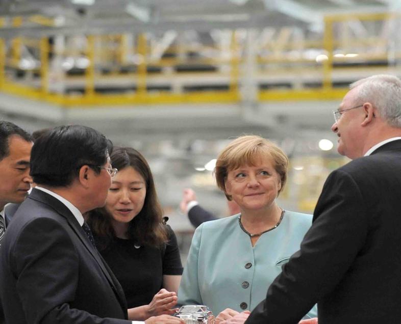 德国总理默克尔 成都行接待