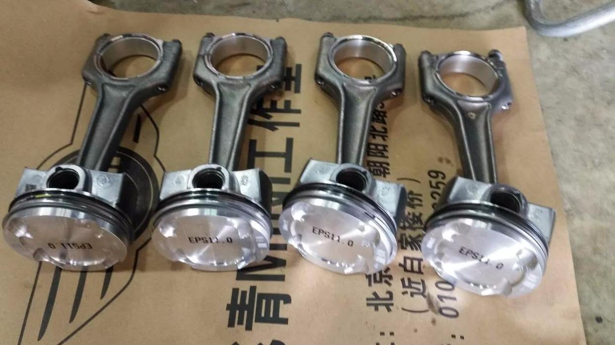 北京mini维修案例-宝马MINI F56发动机缺缸二缸活塞断裂-更换B48发动机活塞