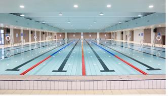 我公司签订乐山欣欣职业技术学院恒温游泳馆项目合同