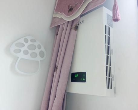 壁掛新風機客廳安裝圖