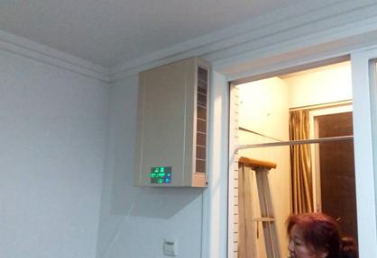 壁掛新風機安裝案例2