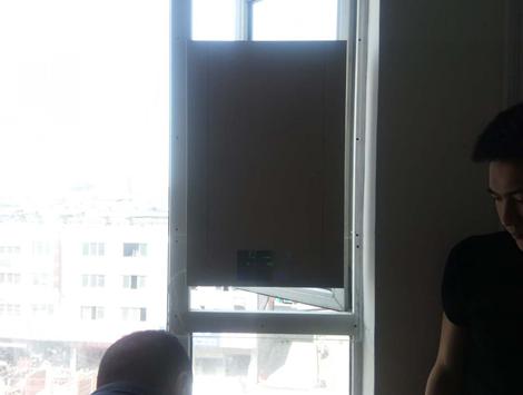 壁掛新風機窗戶安裝圖