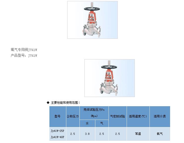 氧气专用阀JY41W