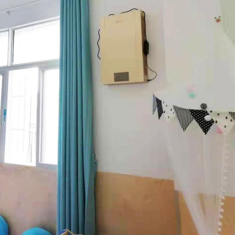 湖北省武汉市黄陂区姚家集中心幼儿园教室安装建源壁挂式新风系统