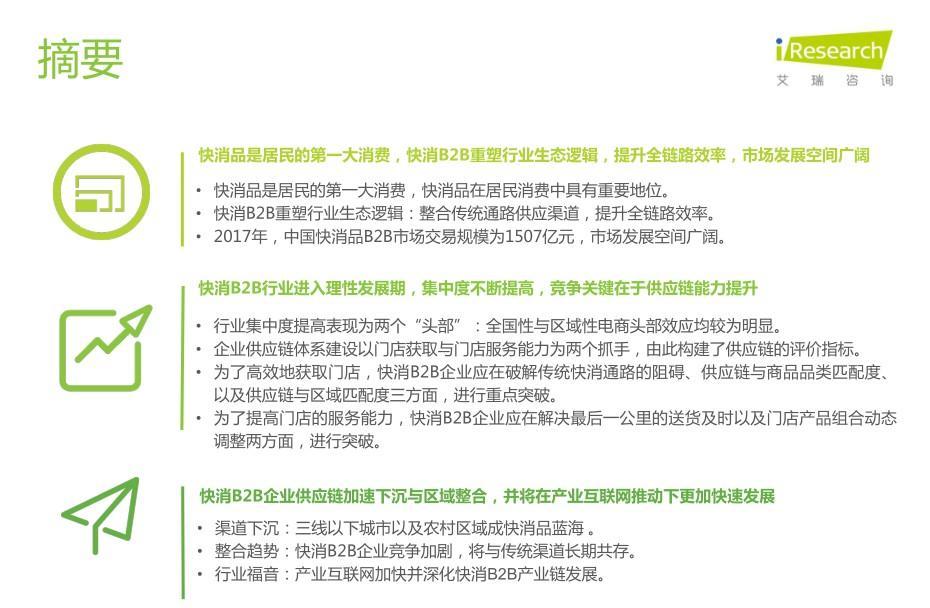 艾瑞网:《2019年中国快消品B2B行业发展研究报告》-B2BGrowing-B2B营销增长网