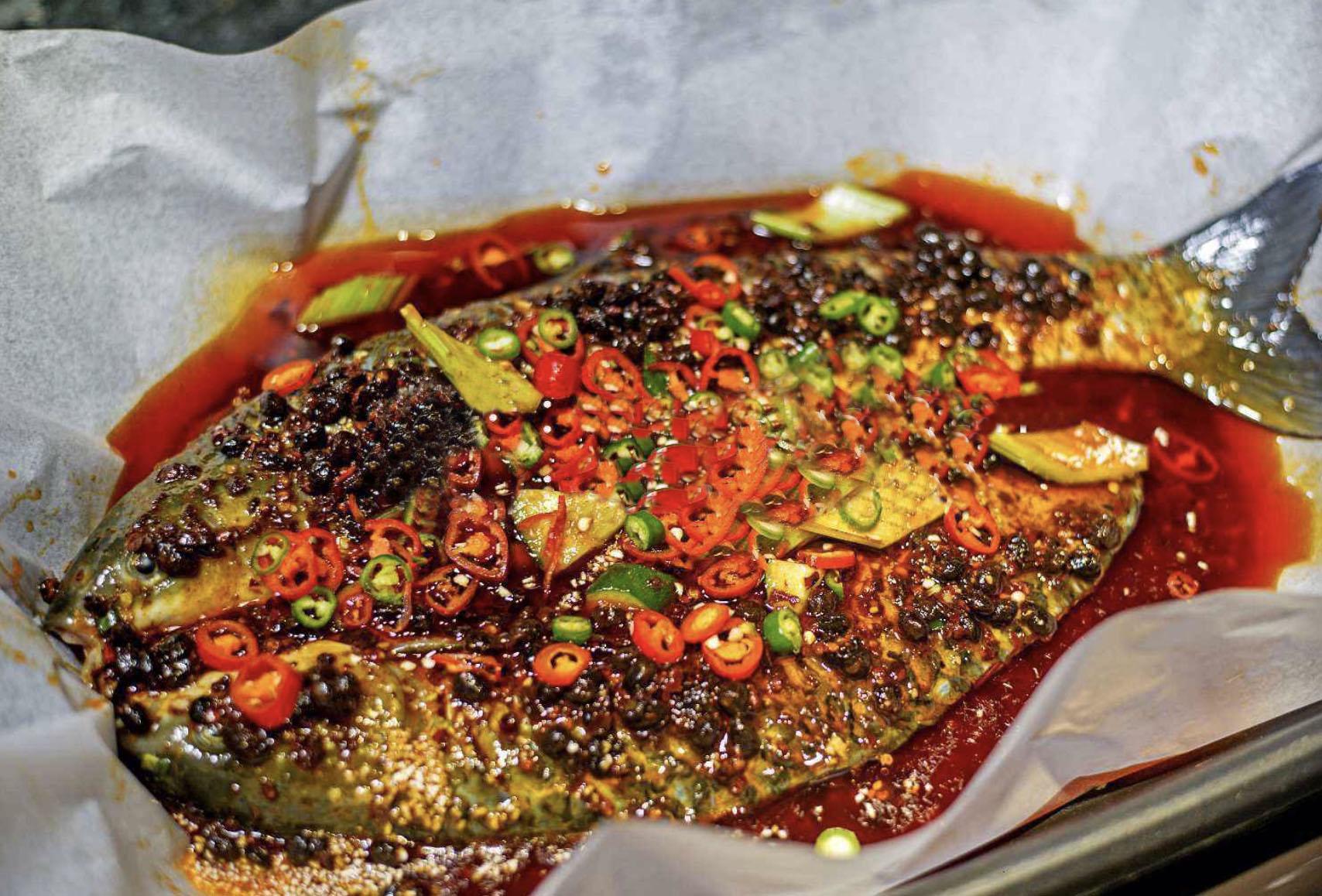 家庭版纸包鱼也能很美味之豆豉纸包鱼!