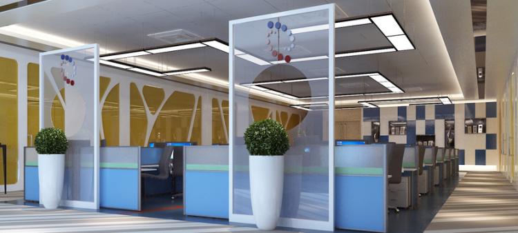 成都办公室隔断装饰设计