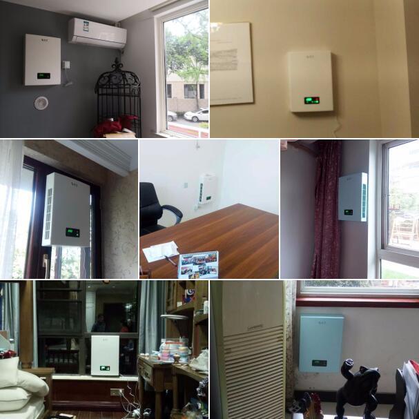 寫字樓辦公室建源壁掛新風系統安裝案例拼圖