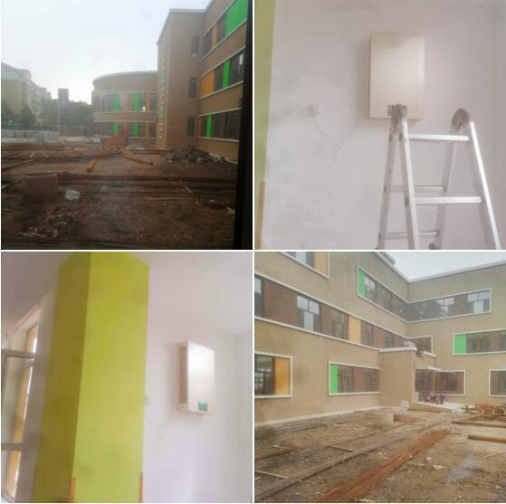 新风系统安装,吉林辽源市幼儿园教室建源新风净化系统安装案例