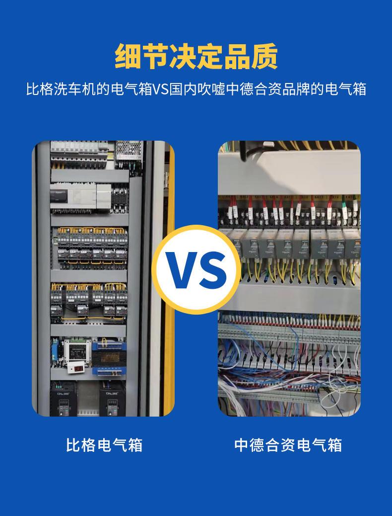 比格往复式洗车机电器箱VS其他厂家洗车机电气箱