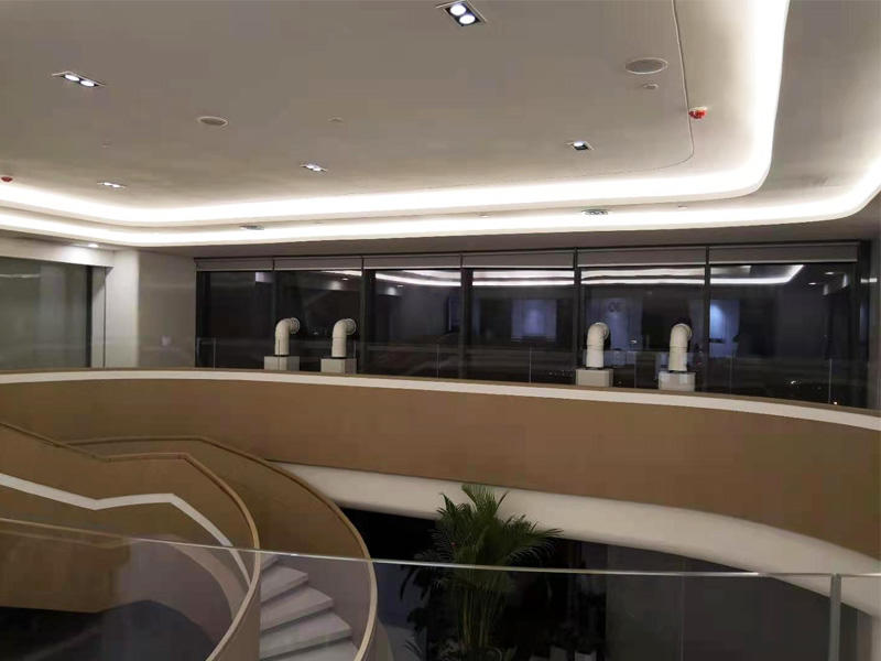 藍潤置地廣場某設計院辦公室新風系統安裝案例