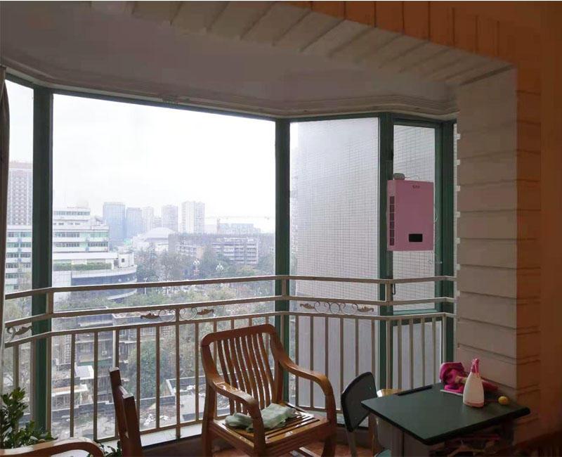 成都武侯区华西美庐小区粉色120壁挂新风机安装